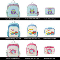 Boys Girls Children's Backpack or Lunch Box by Jiggle & Giggle Owls Cars Birds