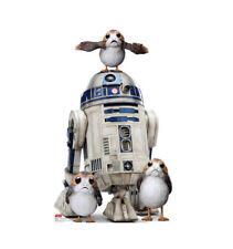 R2-D2 PORGS STAR WARS THE LAST JEDI LIFESIZE CARDBOARD STANDUP STANDEE CUTOUT
