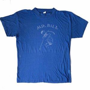 Vintage Mens Blue Mr.Bill T-Shirt