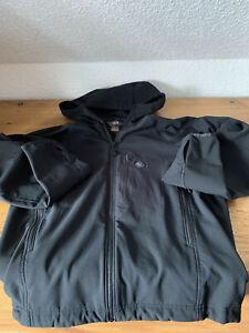 Mountain Hardwear Softshell Jacke schwarz/anthrazit Kapuze Gr. S