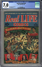 REAL LIFE COMICS #28 CGC 7.0  FANTASTIC ALEX SCHOMBURG JAPANESE WAR COVER 1946