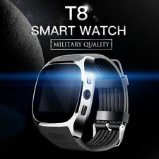 Новый T8 Bluetooth Smart часы поддержка Sim и карты памяти Tf камеры для Android Iphone
