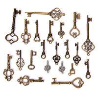 50g/Set Antique Bronze Vintage Old Key Charms Pendants DIY Jewelry Findings G JC