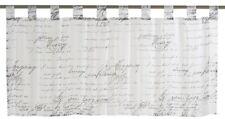 Bistrogardine Scheibengardine transparent Loveletter Schrift schwarz wei�Ÿ 198695