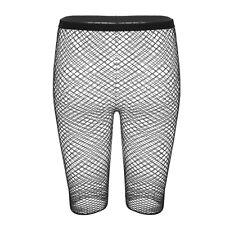 Sexy Women Mesh Fishnet See Through Slim Fit Trousers Legging Shorts Half Pants