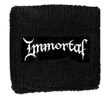 IMMORTAL logo   WRISTBAND SWEATBAND EMBROIDED
