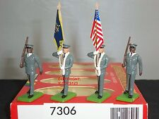 BRITAINS 7306 AMERICAN US ARMY COLOUR PARTY METAL TOY SOLDIER FIGURE SET