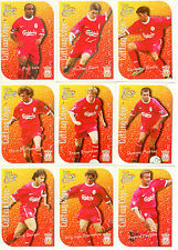 1999 Futera Fans Collection Cutting Edge EMBOSSED Team Set Liverpool (9)