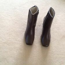 Clarks Brown Leather Boots.New size 6UK