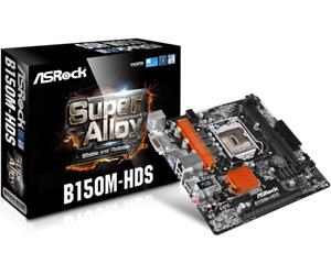 Genuine ASRock B150M-HDS 19cmX19cm MicroATX Motherboard LGA1151 USB3.0 HDMI