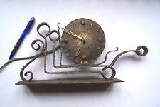 Vintage: Pendule / clock electrique: HAND-MADE  - FER FORGÉ / WROUGHT IRON