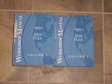 2010 Ford Flex Shop Service Repair Manual Set SE SEL Limited AWD 3.5L V6