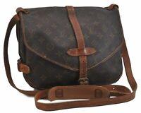 Auth Louis Vuitton Monogram Saumur 30 Shoulder Cross Body Bag M42256 LV B6301
