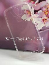 Crystal Clear TPU Gel Jelly Case Cover For Telstra Tough Max 2 T85  Free SP
