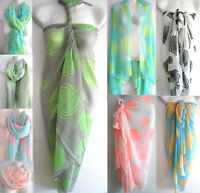 New Women Summer Pareo Sarong Beach Bikini Swimwear Cover Up Long Scarf Wrap #1