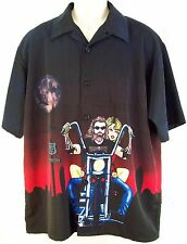 DRAGONFLY Road House Route 69 Camp Shirt Size Large Full Moon Chopper Panties L