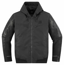 ICON 1000 VARIAL Leather/Textile Motorcycle Jacket (Black) S (Small)