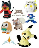 Pokemon 8 Inch Plush Soft Toy Litten Mimikyu Popplio Togedemaru Official Tomy