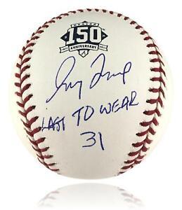 "Greg Maddux Autographed Baseball ""Last To Wear 31"" BAS COA Signed"