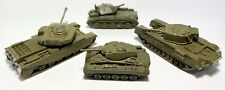 Authenticast Comet WW2 3 British tanks and 1 US Scale 1:108
