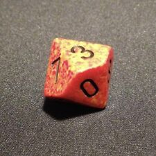 Chessex dice d10 SPECKLED FIRE red yellow orange die D&D RPG ten sided new