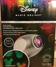 Disney Magic Holiday Mickey Mouse Cascading Lights LED Projection Spotlight, NIB
