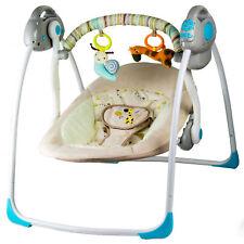 LABT Elektrische Babywiege mit Schaukelfunktion - verschiedenen Melodien & Mobile mit 2x Spielzeugen