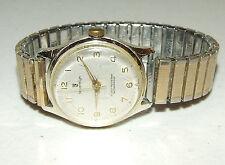 Vintage Working Sovereign Swiss Mechanical Men's Wrist Watch - Speidel Flex Band