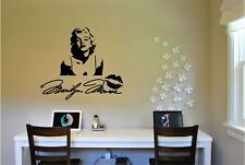 Marilyn Monroe & Signature Wall Sticker Wall Mural  Vinyl Decal lettering