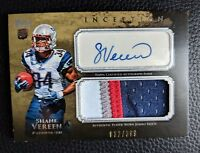2011 TOPPS INCEPTION SHANE VEREEN AUTOGRAPH AUTO ROOKIE 4 COLOR PATCH PATRIOTS
