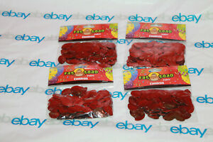 4 Packs ~ Foil Brown Football Confetti - 0.5 Ounces Fat Toad Brand New