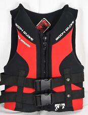 Body Glove Ski Wakeboard Life Jacket Vest Red Black Youth 50lbs-90lbs Neoprene
