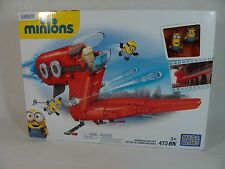 MEGA BLOKS MINIONS SUPERVILLAIN JET PLAYSET W/ MINI FIGURES BRAND NEW!