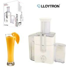LLOYTRON Automatic Full Fruit Juice Extractor 1.3L 800W White Kitchen Perfected
