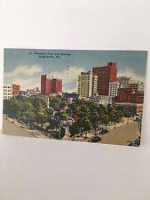 Pc - Jacksonville Fl -hemming park & Skyline 1949