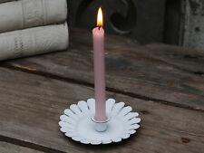 Chic Antique Kerzenhalter Kerzenständer  Metall weiß Shabby Vintage Brocante