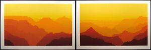 "Jim Boutwell ""Desert Palisades I & II"" Diptych 2 Signed Serigraph Art Prints OBO"