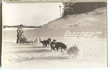 Rock Point Resort Dog Sled Team Winter Carnival Klamath Falls OR Photo RPPC