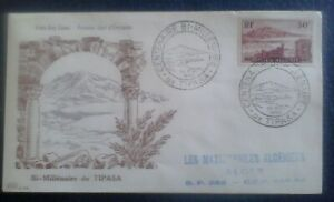 First day of issue, 1955 Algiers, Commemorating Bi-Millenaire Tipasa