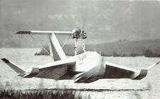 1974 Wire Photo Soviet Union Ground Effect Vehicle flying boat ESKA-1 biplane