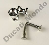 Billet paddock stand spool bobbin silver / alloy for Aprilia RSV1000 RS125 RS250