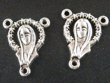 15pcs Tibetan Silver Nice Rosary Mary Jesus Connectors 19x15mm ZN210