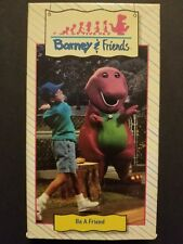 Barney & Friends - Be A Friend (Time Life Video VHS, 1992) RARE Hard to Find