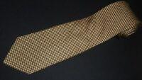 Brooks Brothers Tie Yellow Blue Printed Geometric Designer Silk Necktie Luxury