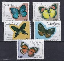 Laos 1993 Esposizione filatelica di Bangkok farfalle MHN