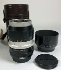 Early Nikon Nikkor-Q Auto 135mm f3.5 90% condition collector dream