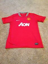 Manchester United Football Shirt Home 2011 Nike Size 12-13 Years Kit England