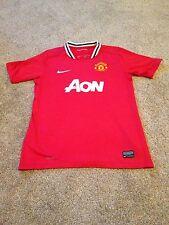 Camiseta de fútbol del Manchester United Hogar 2011 Nike Talla 12-13 años Kit De Inglaterra