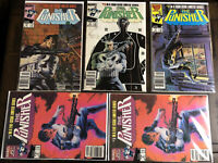 The Punisher Limited Series #2-#5 Marvel Comics 1986 Newsstand Lot of 5 Copies