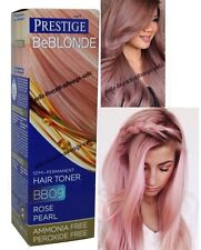 ROSE PEARL PINK HAIR TONER Blonde Bleached Grey NO AMMONIA PEROXIDE Dye UNISEX